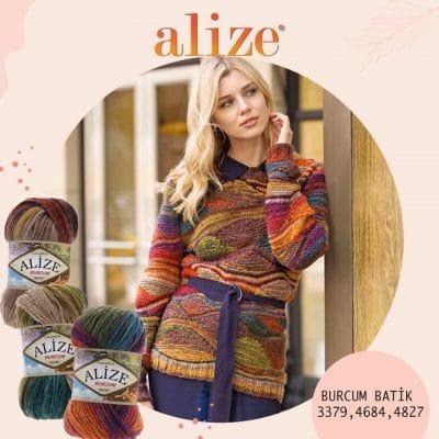 прежда Ализе Бурчум Батик - Прежда в Преливащи се Цветове - Alize Burcum Batik