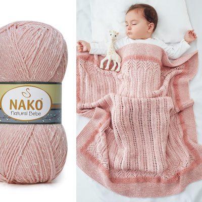 Прежда Нако Натурал Бебе – Nako Natural Bebe-Бебешка Прежда с Бамбук и Памук