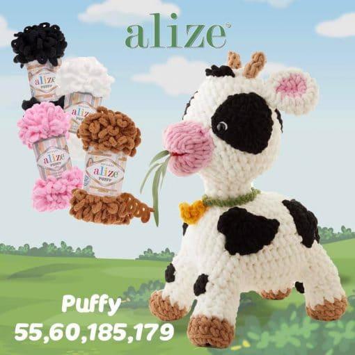 Плетени играчки от прежди Колекция Ализе пуфи