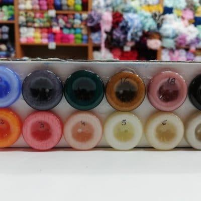 Дамски копчета Цветна палитра с диаметър 2,26 см. - Кръгли