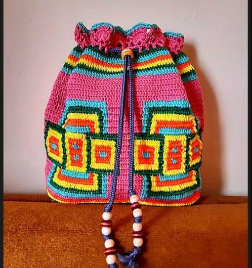 плетена чанта от прежда Видлон-Александър