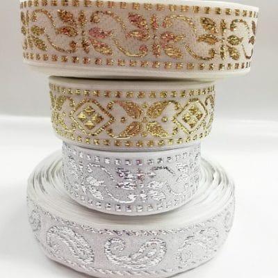 Декоративен ширит с ламе 12121 - Decorative stitch with lama 12121