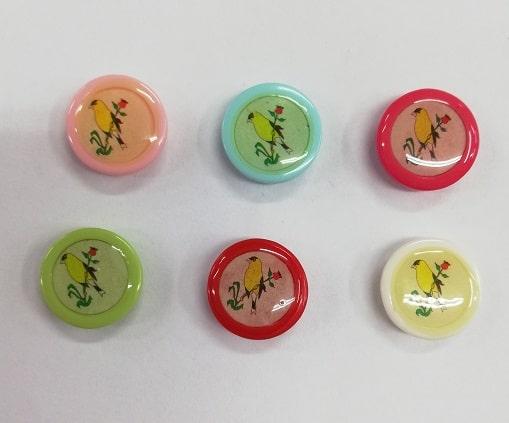Детски копчета - Птичка на клонче - Kids Buttons - Birds on a Twig