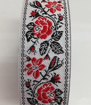 Ширит за народна носия на бяла основа 3 см - Sheer for 3 cm white folk costume decoration