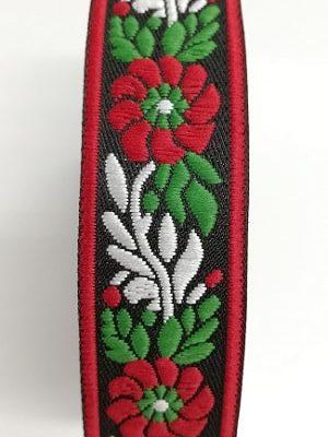 Ширит за народна носия 2,5 см Роза