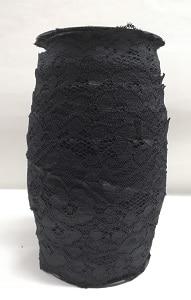 Дантела ластична черна 12546 - Elastic black lace 12546