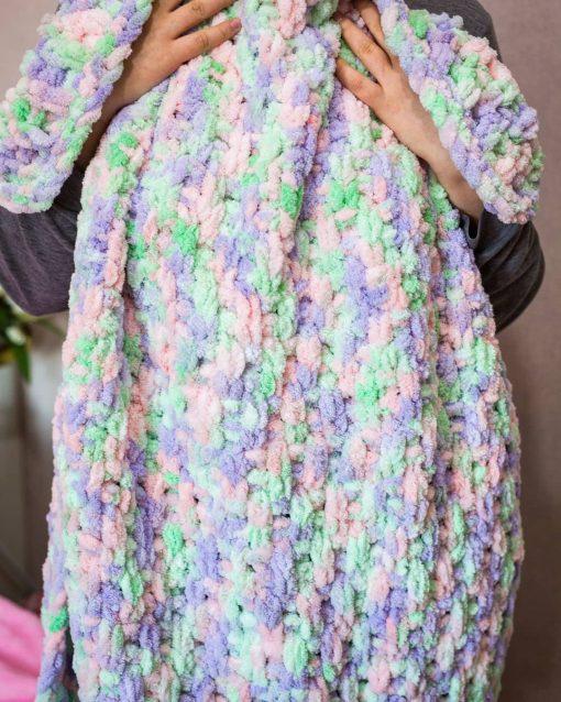Прежда Ализе Пуфи Файн Колор – за детски и бебешки одеяла – Alize Puffy Fine Color
