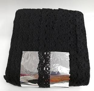 Дантела памучна черна