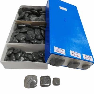 Дамски квадратни копчета в три размера-цвят сиви