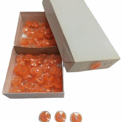 Детски Копчета Око с брокат-цвят Оранжеви