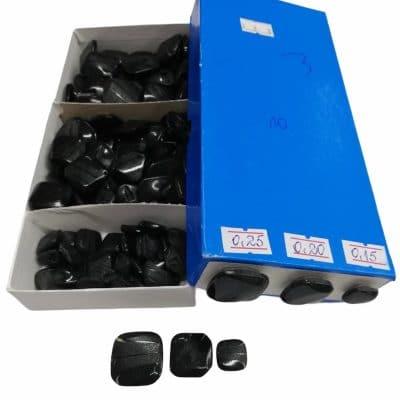 Дамски квадратни копчета в три размера-цвят черни