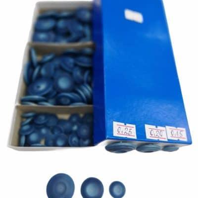 Дамски копчета в три размера-цвят дънково сини