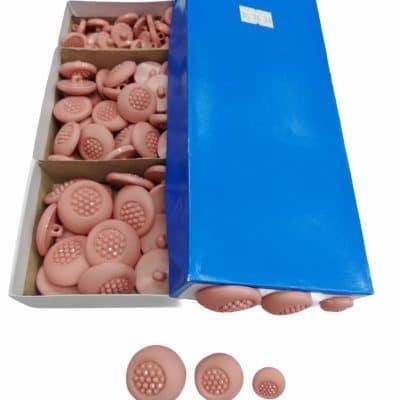 Дамски кръгли копчета в три размера-цвят Млечно Розови