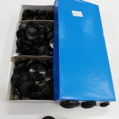 Дамски кръгли копчета в три размера-цвят Черни