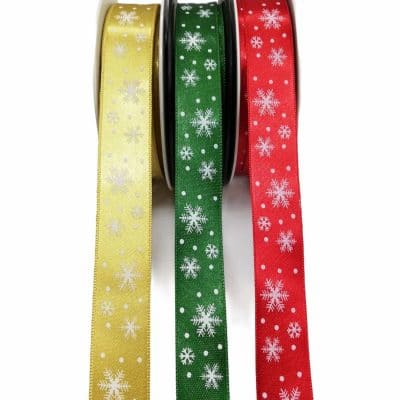 Сатенирани Коледни Ленти за Декорация