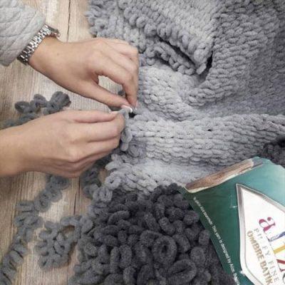 Плетене на ръце, китки, пръсти (Arm Knitting)