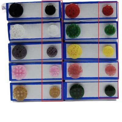 Дамски кръгли копчета Лекси