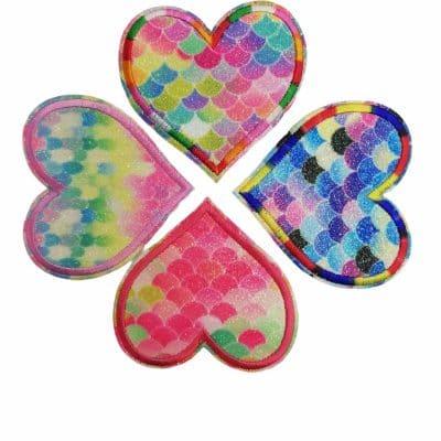 Апликации за дрехи и декорации-Красивите сърчица