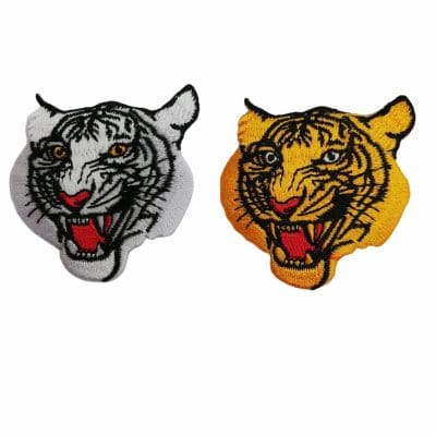 Апликация за дрехи и декорация-глава на тигър