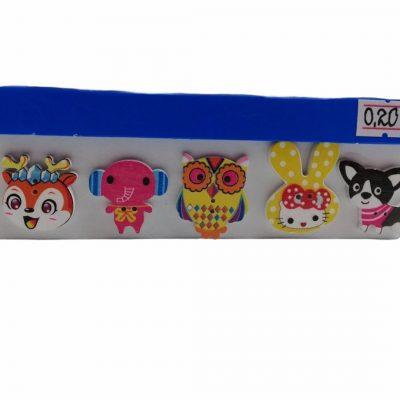 Украсителни копчета за декорации -лисица,слонче,бухалче,коте и куче