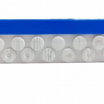 Детски копчета Бети - цвят бели
