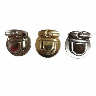 Метална закопчалка за чанта-Черна,Златна,Сребърна