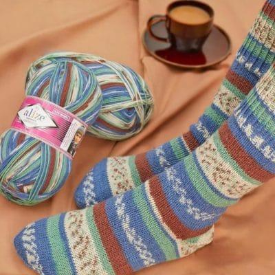 Ализе Суперуаш Комфорт Сокс – Alize Superwash Comfort Sock-Комфортни и весели чорапи…