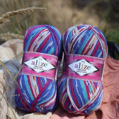 Ализе Суперуаш Комфорт - Alize Superwash Comfort Sock-Комфортни и весели чорапи