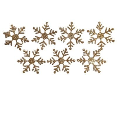 Златни снежинки с брокат от текстил 406146